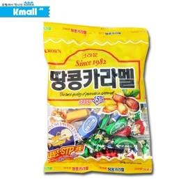 크라운 땅콩카라멜 140g 유통기한: 180101