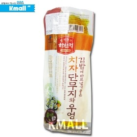 하선정 김밥용 치자단무지와 우엉 220g 유통기한: