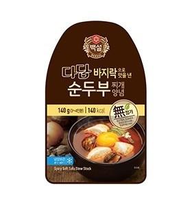 (냉장) 백설 다담 바지락으로 맛을 낸 순두부 찌개 양념 140g 유통기한: 180315
