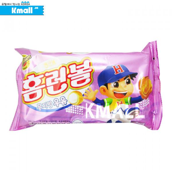 해태 홈런볼 '무지방 우유' (소) 46g 유통기한: