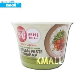 백설 컵밥 강된장 비빔밥 햇반 280g 유통기한: 180617