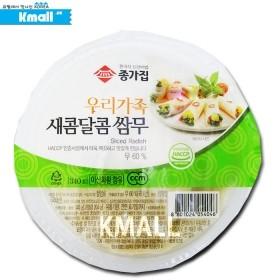 (냉장) 종가집 우리가족 새콤달콤 쌈무 340g 유통기한: