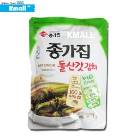 (냉장) 종가집 돌산갓김치 (한국산) 500g 유통기한: